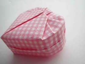 怎么折纸爱心盒子有盖的折法步骤图解