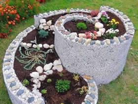 怎么用石头做螺旋花坛的方法图解