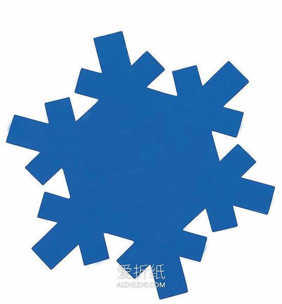 怎么简单用卡纸做雪花卡片的方法图解- www.aizhezhi.com