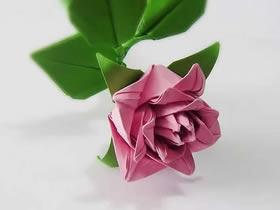 怎么折纸卷心玫瑰的折法详细步骤图解