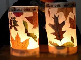怎么用树叶做新年灯笼的方法图解