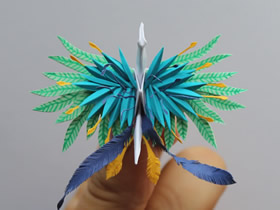怎么折纸美丽纸鹤的作品图片
