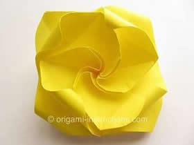 怎么折纸旋转玫瑰花的折法图解