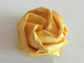 怎么折纸立体川崎玫瑰的折法图解