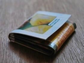 怎么用果汁盒做简易钱包的方法图解