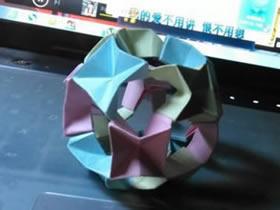怎么折纸圆球形状花球的折法图解