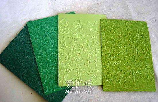 怎么用卡纸做圣诞树卡片的方法图解- www.aizhezhi.com