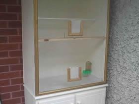 怎么用旧书架改造鸟柜的方法图解