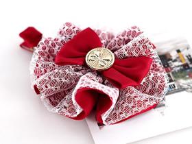 怎么用缎带做洛丽塔风格蝴蝶结发夹的方法图解