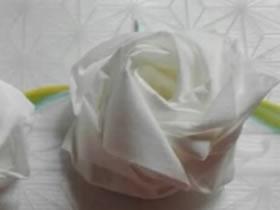 怎么用餐巾纸简单做玫瑰花的方法图解