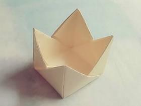 怎么简单折纸皇冠盒子的折法图解