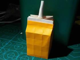 怎么折纸盒装牛奶的方法图解