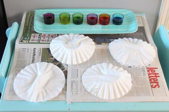 怎么用蛋糕纸简单做漂亮大花的方法图解- www.aizhezhi.com