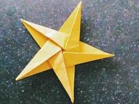 怎么折纸五角星的简单折法图解