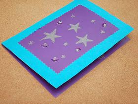 怎么用卡纸做教师节星星贺卡的方法图解