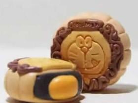 怎么用粘土做哆啦A梦月饼的方法图解