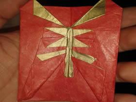 怎么折纸羊年红包的折法图解