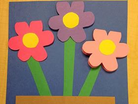 怎么用卡纸简单做教师节花朵卡片的方法图解