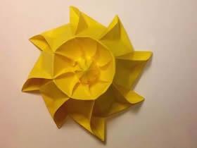 怎么折纸立体太阳的折法图解