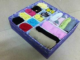 怎么用纸箱做内衣收纳盒的方法图解