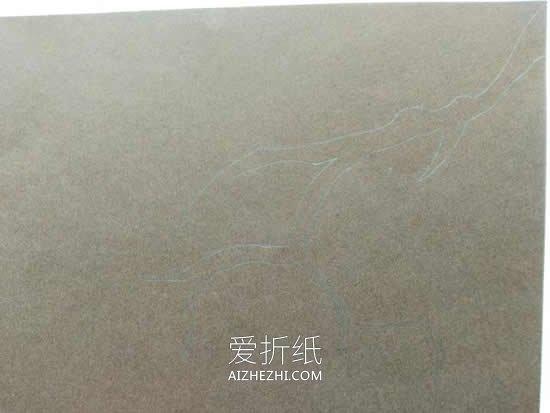 怎么用卡纸做中国风桃花卡片的方法图解- www.aizhezhi.com