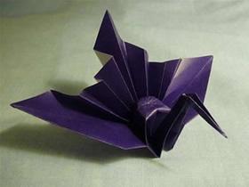 怎么折纸漂亮翅膀纸鹤的折法图解