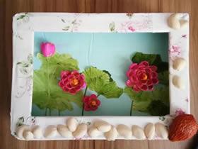 怎么用开心果壳做荷花装饰品的方法图解