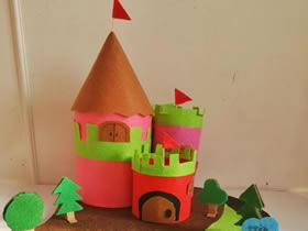 怎么用奶粉罐简单做城堡模型的方法图解