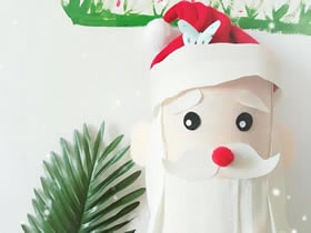 怎么用奶粉罐简单做圣诞老人的方法图解