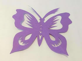 怎么用剪纸简单剪出蝴蝶的剪法图解