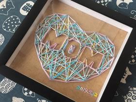 怎么用绕线画做母亲节爱心礼物的方法图解