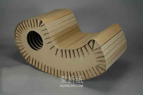 怎么用硬纸板做摇摇椅的方法图解- www.aizhezhi.com