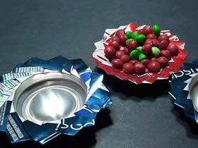 怎么用易拉罐做果盘的方法图解