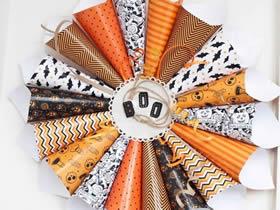 怎么用包装纸做万圣节花环的方法图解
