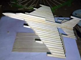 怎么用一次性筷子做战斗机模型的方法图解