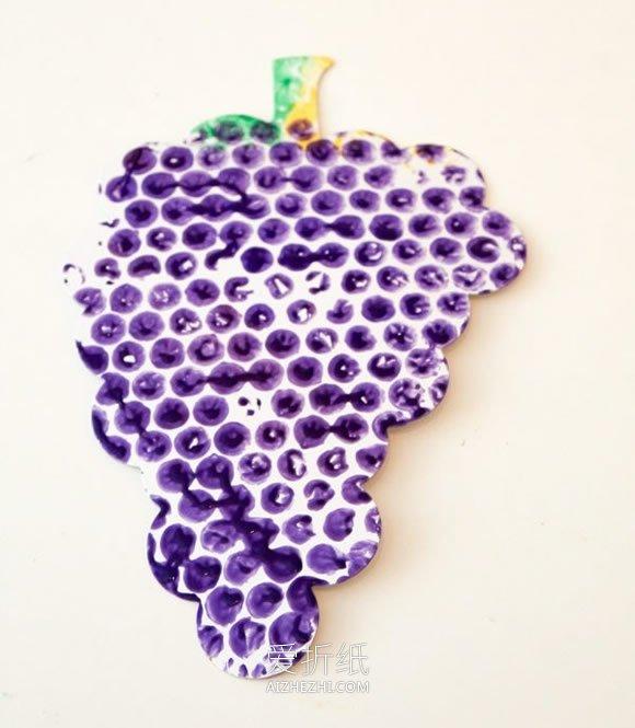 怎么用气泡膜做水果蔬菜创意画的方法图解- www.aizhezhi.com