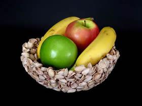 怎么用开心果壳做果盘的方法图解