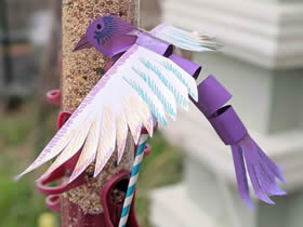 怎么用卡纸做翅膀能动小鸟木偶的方法图解