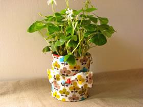 怎么用金属食品罐做花盆的方法图解