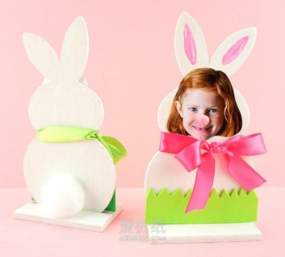 怎么用薄木片做复活节兔子相框的方法图解- www.aizhezhi.com