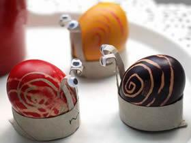 怎么用卷纸芯做复活节蜗牛彩蛋的方法图解