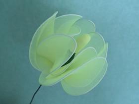 怎么做白玉兰丝网花的方法详细图解