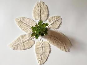 怎么用棉线打结做羽毛挂饰的方法图解