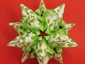 怎么折纸星星花球的折法过程图解