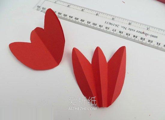 怎么用卡纸做郁金香教师节卡片的方法图解- www.aizhezhi.com