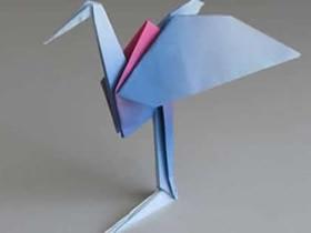 怎么将折纸千纸鹤改造成丹顶鹤的折法图解