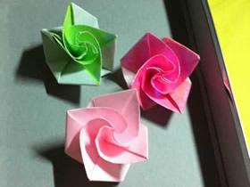 怎么折纸钻石玫瑰的详细过程图解