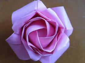 如何折纸玫瑰花的折法详细过程图
