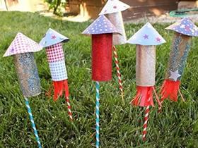 幼儿园火箭鞭炮怎么做图解