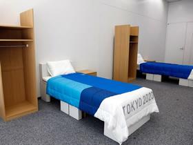 东京奥运会的可回收再利用硬纸板床